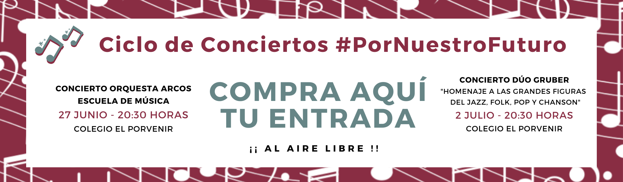 Comprar entradas para el CICLO DE CONCIERTOS #PorNuestroFuturo