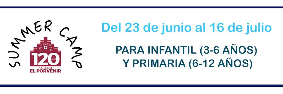 Campamento de verano 2021 colegio El Porvenir