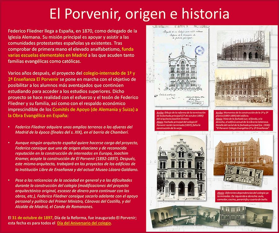 Historia colegio El Porvenir Madrid