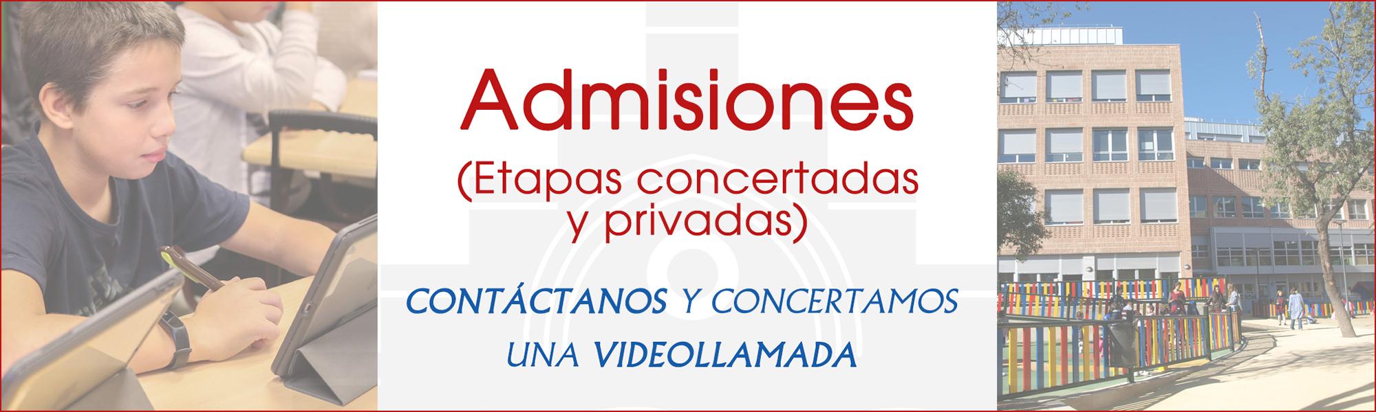 Admisiones plazas privadas y concertadas en El Porvenir
