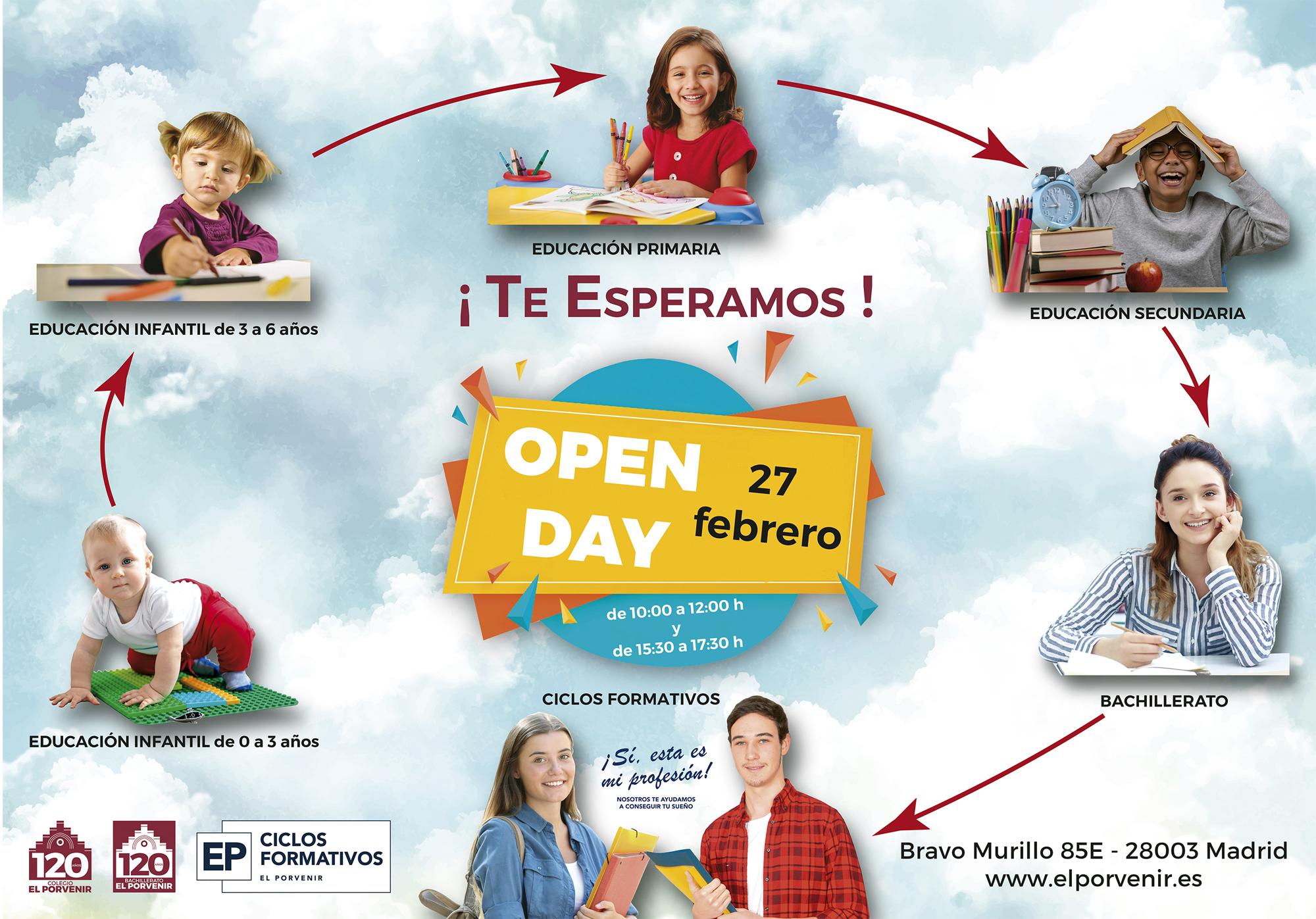 Open Day - Jornada de Puertas Abiertas colegio El Porvenir