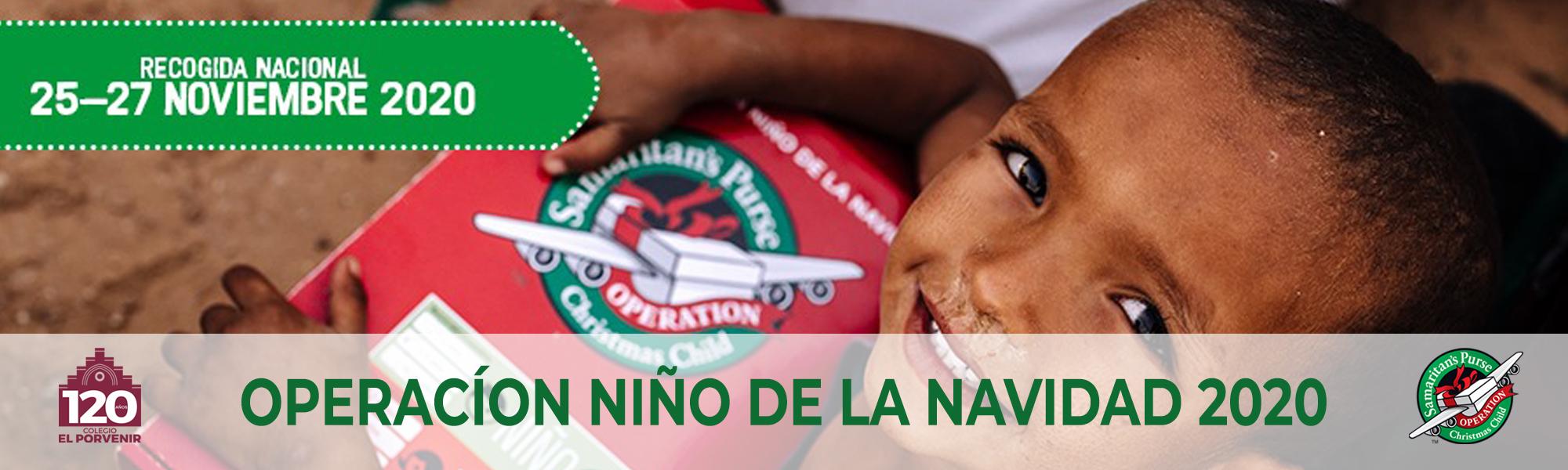 Operación Niño de la Navidad 2020 colegio El Porvenir