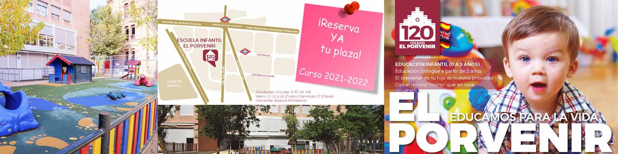 Reserva de plaza 2021-2022 Escuela Infantil Guardería El Porvenir
