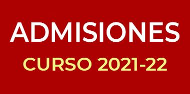 Admisiones curso 2021-2022 colegio El Porvenir