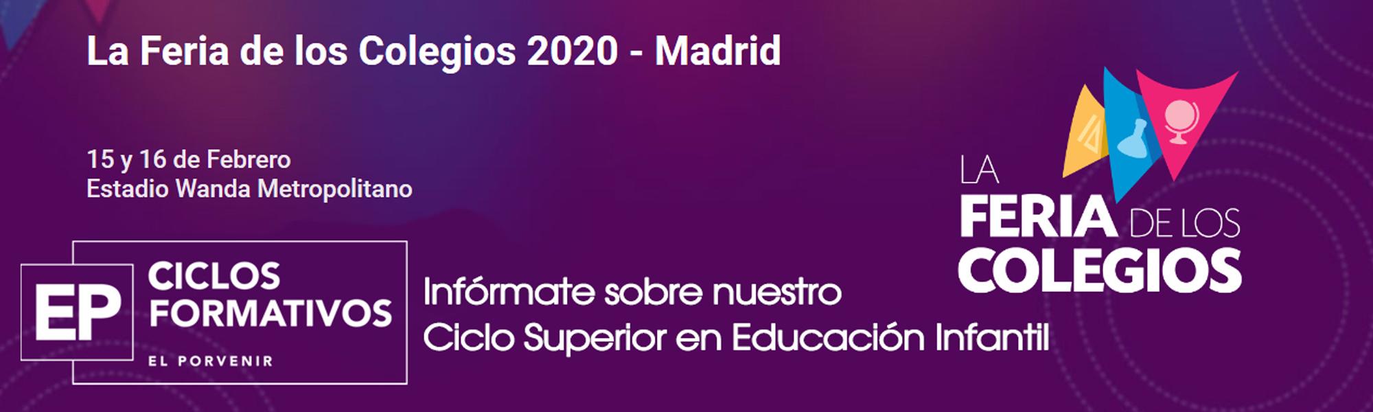 Feria de los Colegios 2020 Ciclos Formativos El Porvenir
