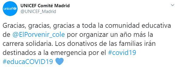 Twitter UNICEF Maddrid