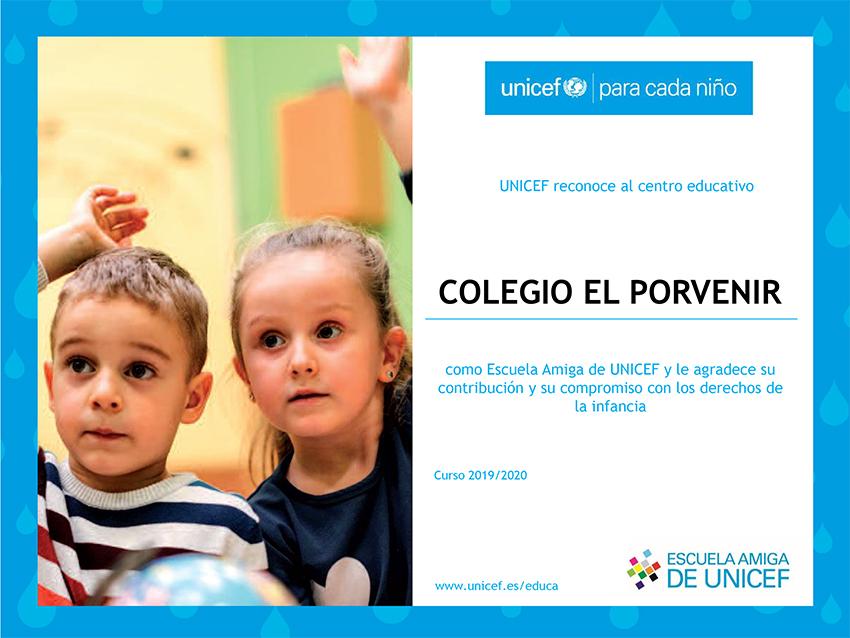 El Porvenir Escuela Amiga de UNICEF curso 2019-2020
