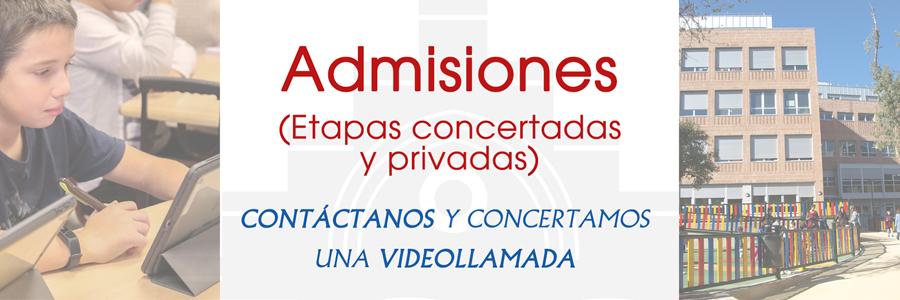 Admisión en plazas concertadas y privadas colegio El Porvenir
