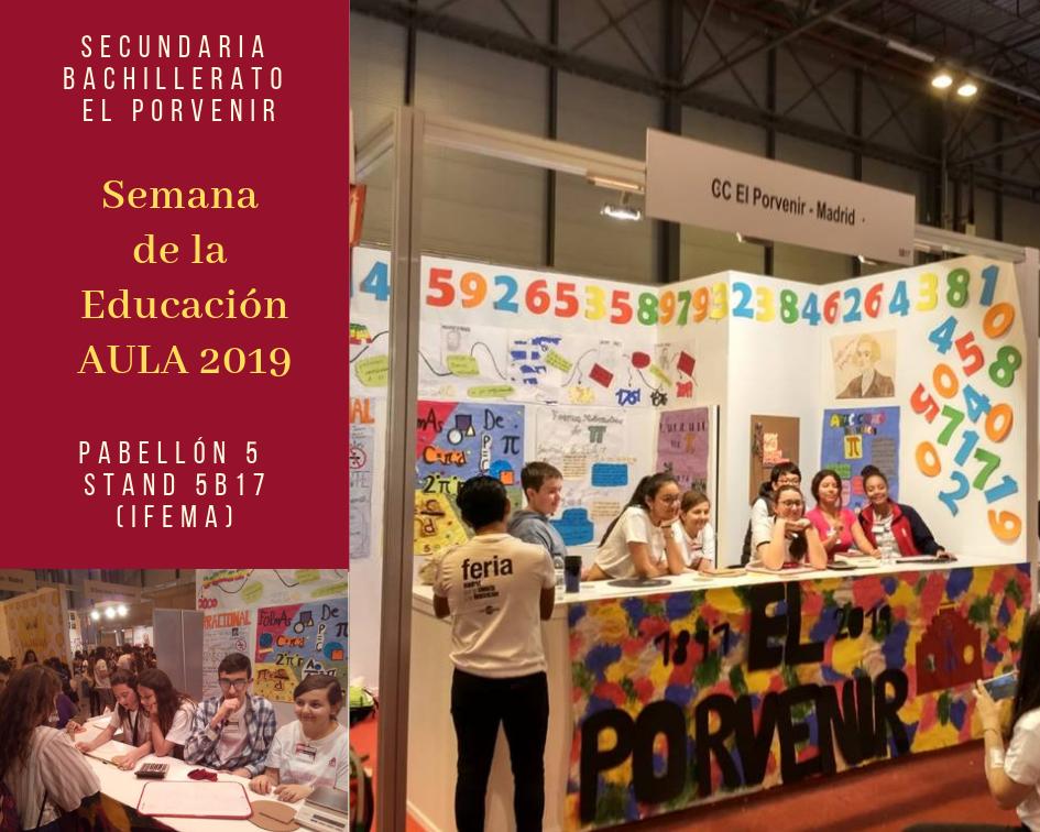 Stand El Porvenir Semana de la Ciencia - AULA 2019