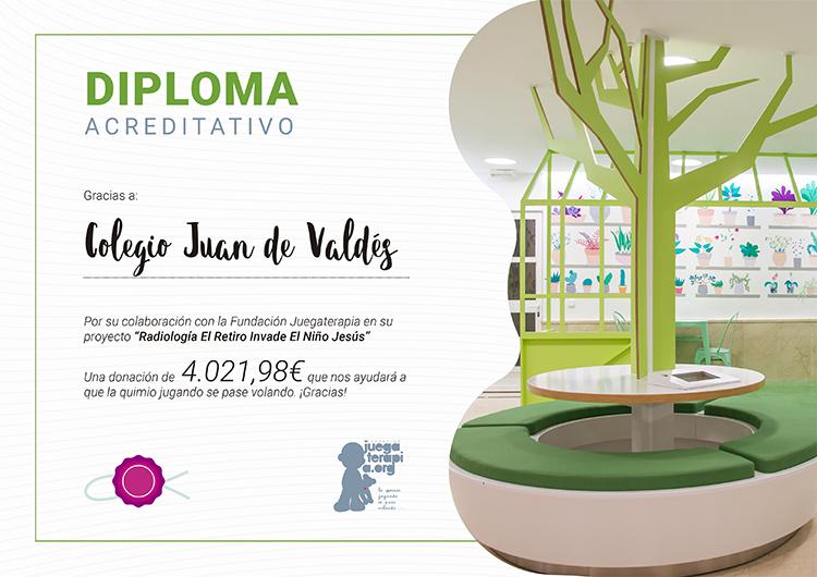 Diploma Juegaterapia para Juan de Valdés