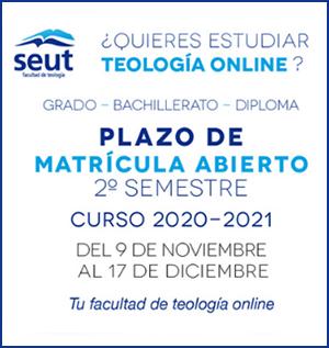 Matrícula Grado en Teologia 2º trimestre 2020-2021