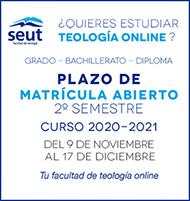 Matrícula Grado en Teología SEUT 2º Semestre 2020-2021