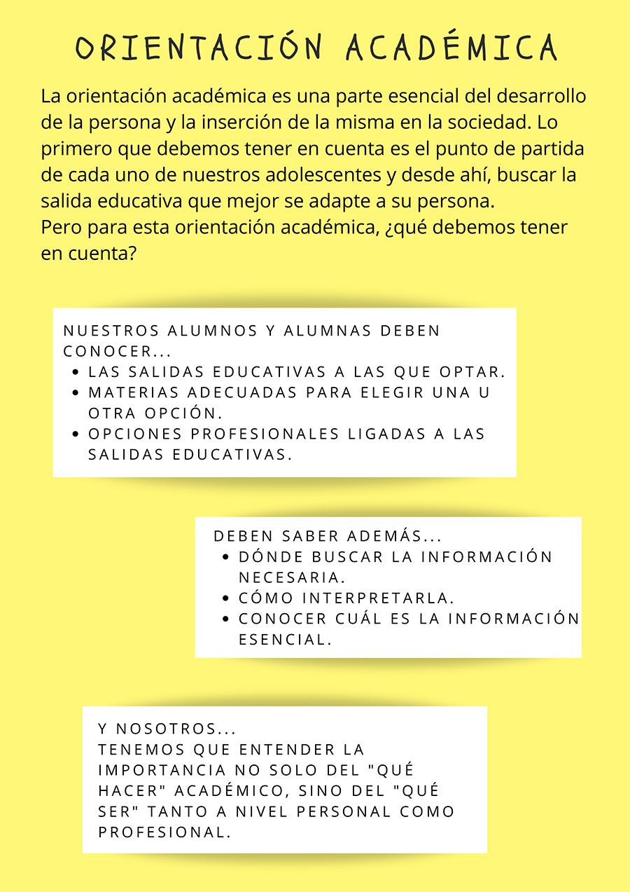 Orientación Académica y Profesional Gabinete Psicopedagógico El Porvenir