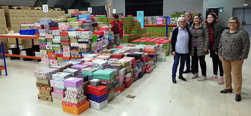 Cajas Operación Niño de la Navidad 2019