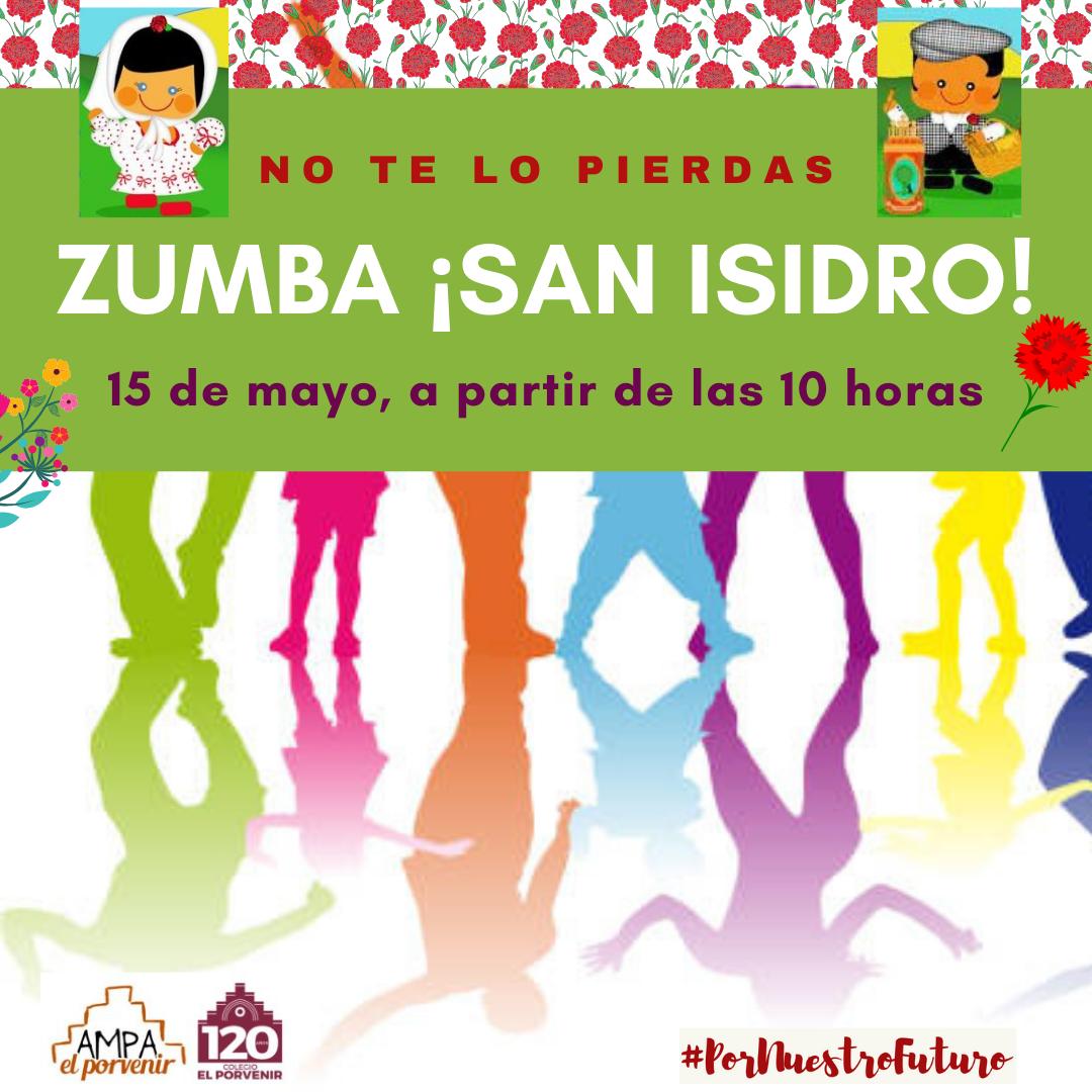 Actividad de ZUMBA el día de San Isidro colegio El Porvenir