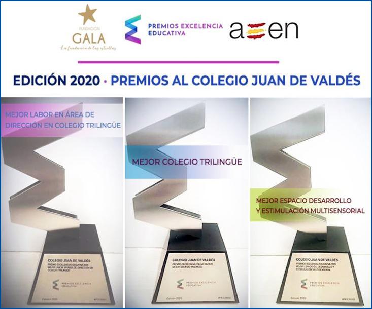Premios Excelencia Educativa 2020 colegio Juan de Valdés