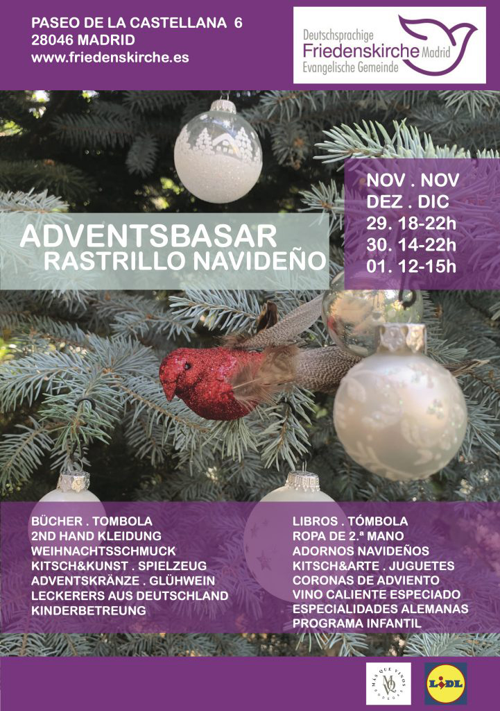 Rastrillo Navideño Iglesia evangélica de habla alemana de Madrid