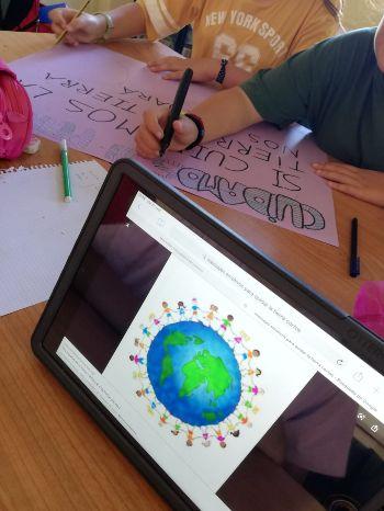 Movilización cambio climático colegio El Porvenir