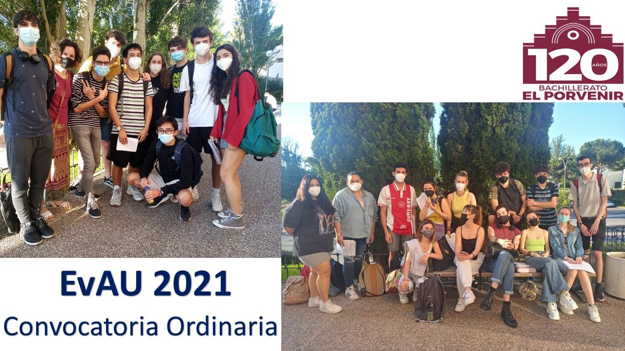 Bachillerato El Porvenir EvAU 2021