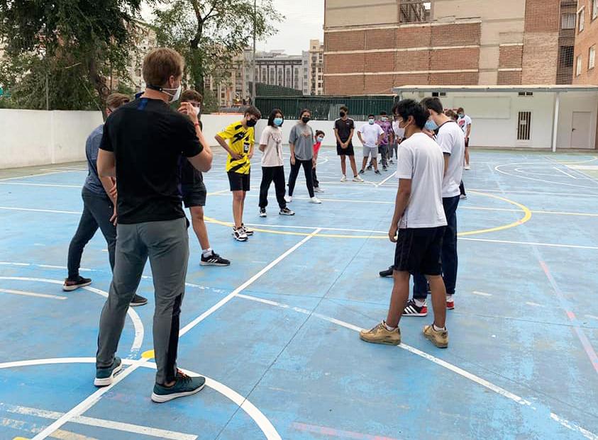 Clase Educación Física Bachillerato El Porvenir