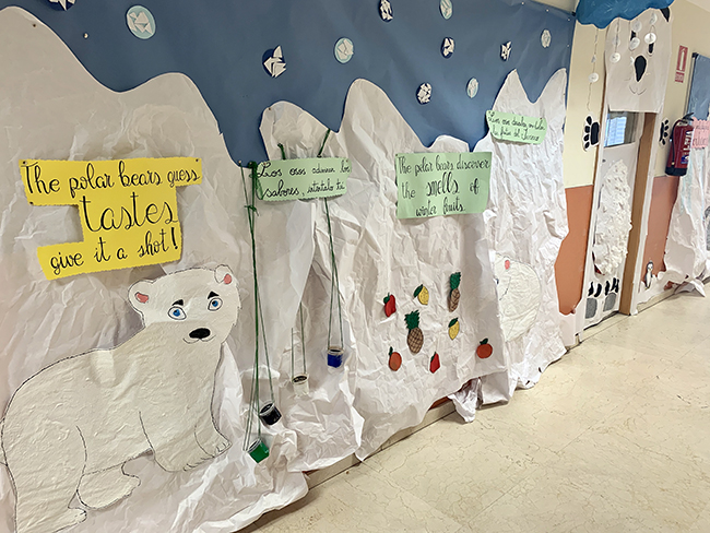 Proyecto los Sentidos bebés Escuela Infantil El Porvenir
