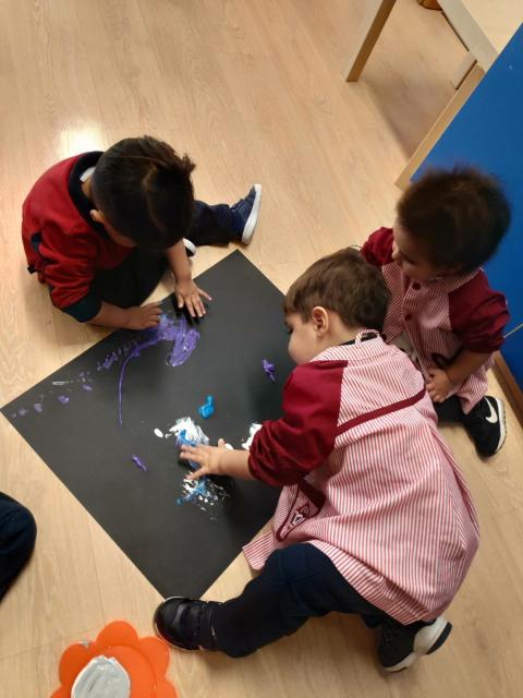 Pintando a Kandinsky Escuela Infantil El Porvenir