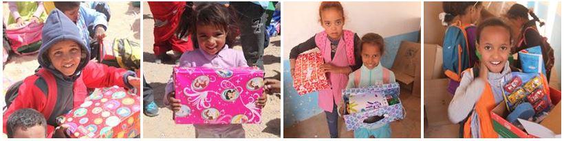 Llegadas cajas Operación Niño de la Navidad