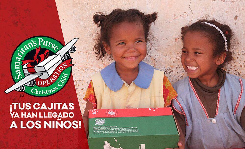 Llegada cajas Operación Niño de la Navidad 2016