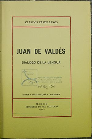 IGLESIA EVANGÉLICA ESPAÑOLA, ARCHIVO GENERAL HISTÓRICO: 734