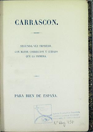 IGLESIA EVANGÉLICA ESPAÑOLA, ARCHIVO GENERAL HISTÓRICO: 737