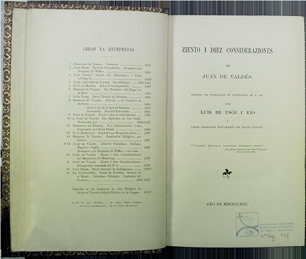 IGLESIA EVANGÉLICA ESPAÑOLA, ARCHIVO GENERAL HISTÓRICO: 738