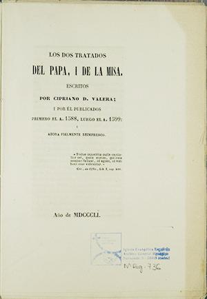 IGLESIA EVANGÉLICA ESPAÑOLA, ARCHIVO GENERAL HISTÓRICO: 736