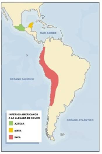 quot mapa de los imperios americanos precolombinos quot