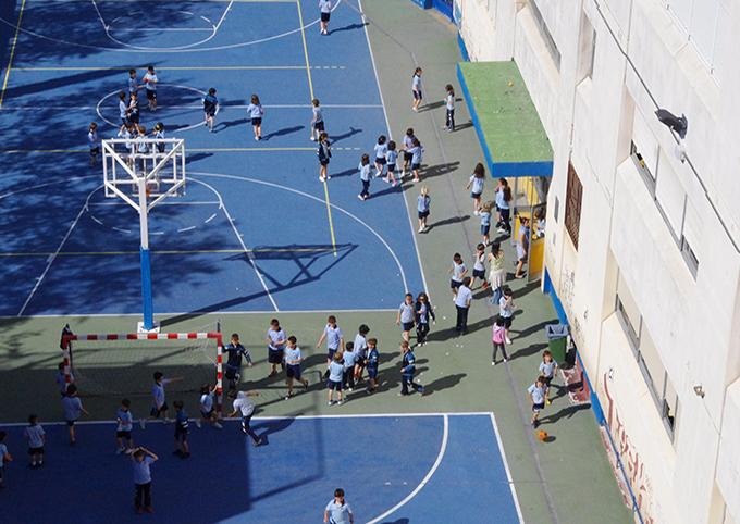Área deportiva de Primaria y Secundaria