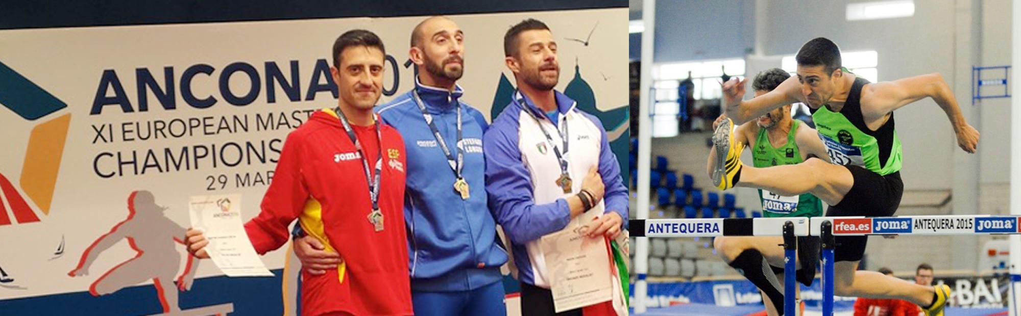Carlos Martínez, Subcampeón de Europa de Atletismo 60 metros valla