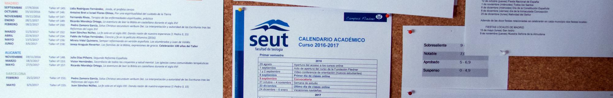 Calendario académico SEUT
