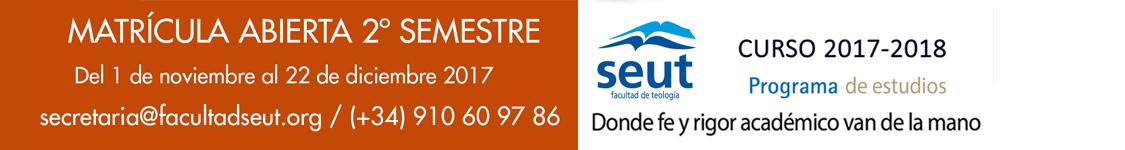 Matrícula abierta 2017-2018 facultad SEUT segundo semestre