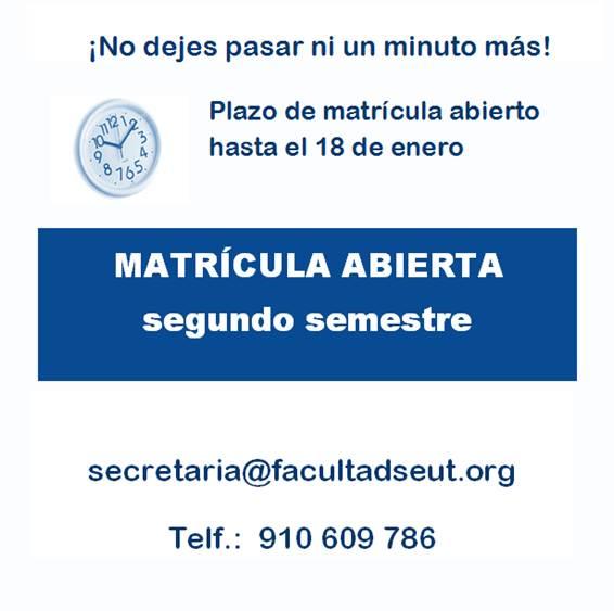 Matrícula 2º Semestre curso 2016-2017