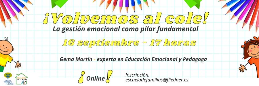 Escuela de Familias: primer taller del curso 2020-2021
