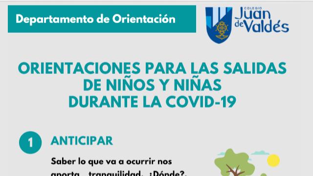 Orientaciones para las salidas de niños y niñas durante la COVID - 19