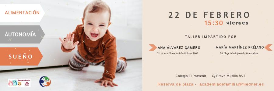 """Se abre el plazo de inscripción para el taller """"Alimentación, autonomía y sueño"""" en bebés de 1 año"""