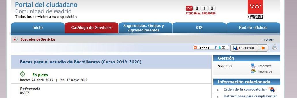 IMPORTANTE: Solicita ya la beca para Bachillerato en El Porvenir (curso 2019-2020)
