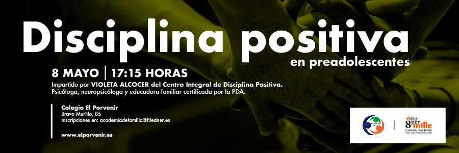 """Escuela de Familias: """"Disciplina positiva en preadolescentes"""" (8 de mayo)"""