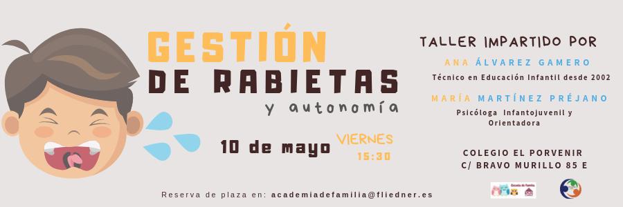 """Escuela de Familias: """"Gestión de rabietas y autonomía"""" (10 de mayo)"""