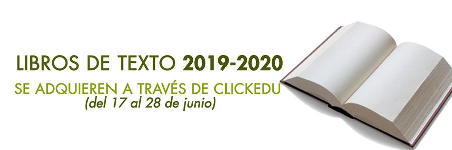 Libros de texto 2019-2020: las familias pueden adquirirlos a través de  CLICKEDU