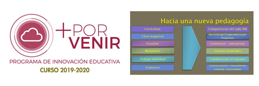 Novedades 2019-2020 en nuestro programa de innovación educativa +POR VENIR