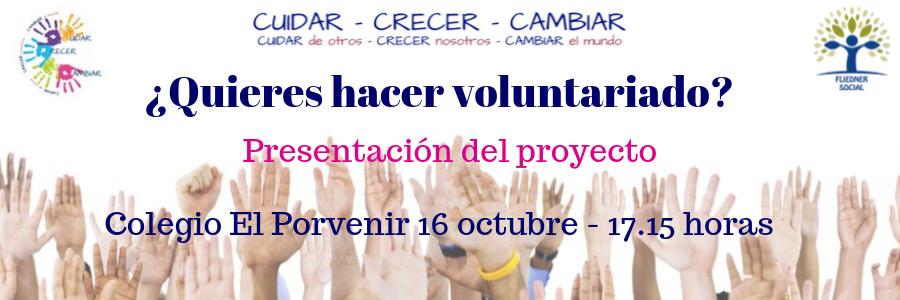 Vuelve el proyecto de voluntariado CUIDAR-CRECER-CAMBIAR