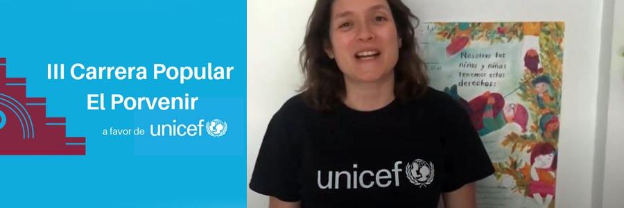 Adriana, responsable de UNICEF Educación en la Comunidad de Madrid, nos da las gracias por nuestra colaboración