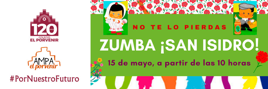 "15 de mayo:  ""Zumba: chulapeando por San Isidro""."