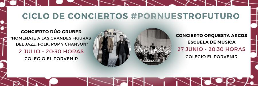 #PorNuestroFuturo: participa en dos conciertos al aire libre